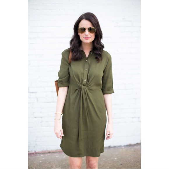 Topshop MATERNITY Dresses & Skirts - TopShop green front wrap tie dress