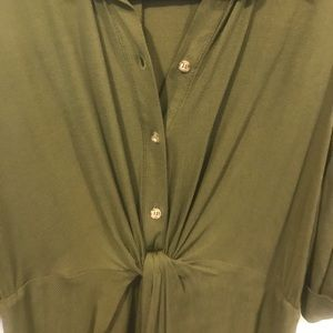 Topshop MATERNITY Dresses - TopShop green front wrap tie dress