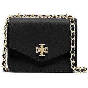 Tory Burch Black Mini Kira Chain Clutch Bag