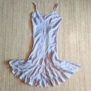 Vintage 1920 Periwinkle Flapper Silk Dress AS IS