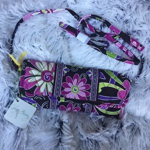 Vera Bradley Purple Punch Sleek Wallet Crossbody