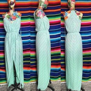 Gypsy 05 Wrap Striped Tulip Midi Dress