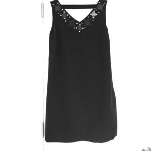 Ann Taylor Black Cocktail Dress with stone detail