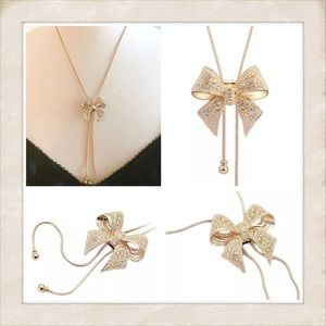 🎈sale🎈New Bolero Bow Necklace! Goldtone 😍