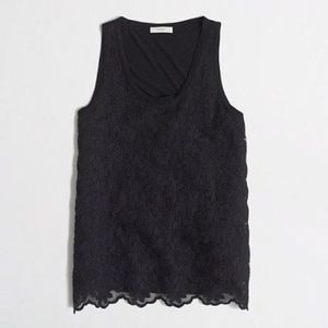 J Crew Lace Front Tank Top