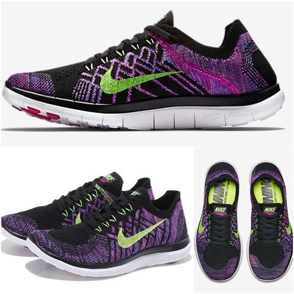Femmes Nike Free 3.0 V2 Entraîneurs De Course Fuchsia Noir Par Le Secret