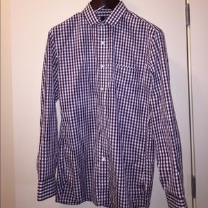 J Crew Purple/White Dress Shirt