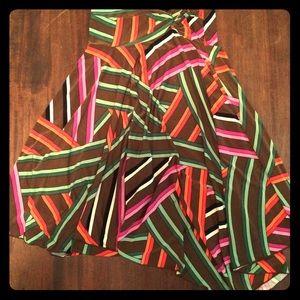 Flowy striped skirt