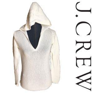 J crew white knit hoodie