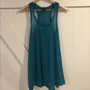 H&M Turquoise Racer-Back Tank. NEW without tags!