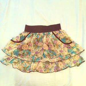 🌸Floral Pattern Tiered Ruffle Skirt 🌸