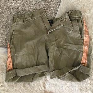 J Crew khaki and rose gold shorts