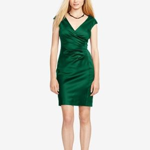 Olive green lauren Ralph Lauren dress size 2