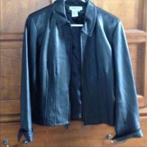 Coldwater Creek Leather Blazer
