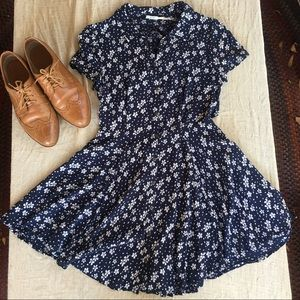 *BOGO 50% OFF* Floral Button-Down Collar Dress