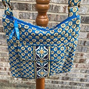 Vera Bradley purse blue yellow cross body