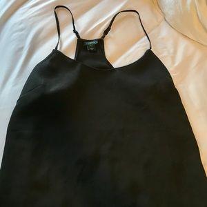 Black simple tank top