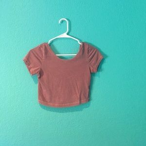 BRANDY MELVILLE SCOOP BACK CROP TOP