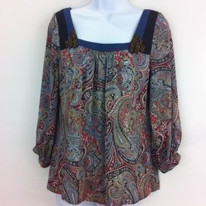 BCBG Generation paisley top