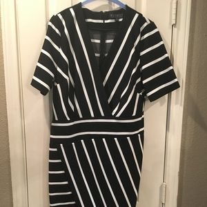Asymetrical Eloquii Striped Dress