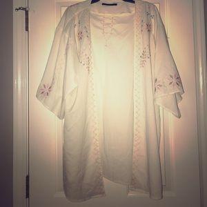 Gorgeous stitched kimono medium tunic
