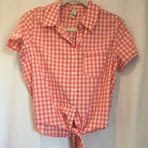 Pink & White Checkered T-Shirt