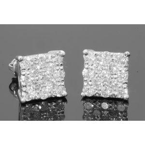 Jewelry - 1.50 carat 10k white gold diamond earrings