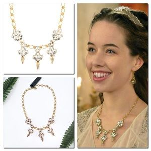 J.CREW Crystal and Pearl Chandelier Necklace