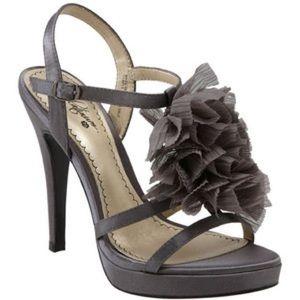 BP. Platinum 'Medina' Sandal in grey satin