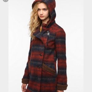 Urban Outfitters plaid parka coat