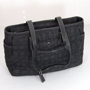 Coach Nylon Quilted Work or Baby Tote Bag