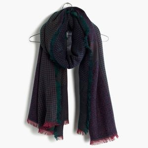 NEW! Madewell Houndstooth Patchwork Scarf