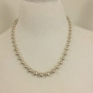 Sterling Silver bead necklace .