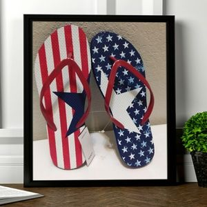 Mixit red white n blue sandals