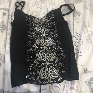 Other - Bused black corset style top very light