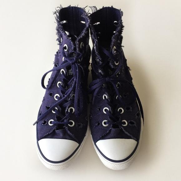15c8dece8de3f6 Converse Shoes - Converse Hi Ness Cutout Wedge Sneakers Size 5.5