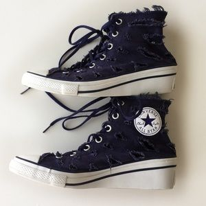 83615c2a9c56 Converse Shoes - Converse Hi Ness Cutout Wedge Sneakers Size 5.5