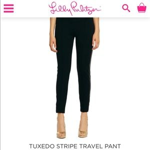 Lilly Pulitzer tuxedo stripe travel pants small