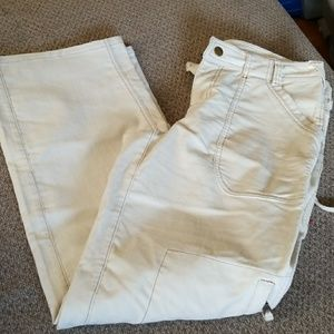 Athleta cream/off white corduroy pants size 10
