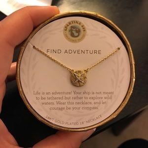 "Never worn ""find adventure"" gold necklace"