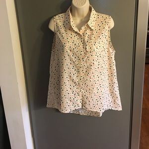 Anthropologie Maude Sleeveless Blouse Large