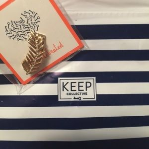 KEEP collective feather charm NWT