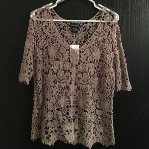 NWT Beautiful Lace Cardigan Sweater