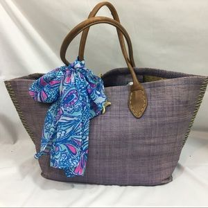 LILLY PULITZER Straw Large Bag