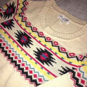 On Fire, knitted sweater