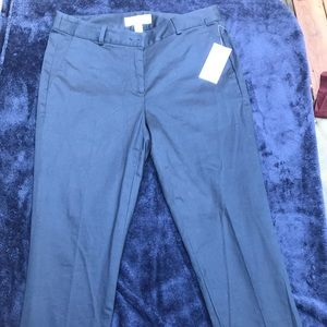 Michael Kors ankle length navy pants.