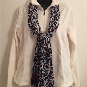 Lands' End Cream Colored Fleece Pull-Over