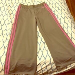 Adidas light brown and magenta leggings!!