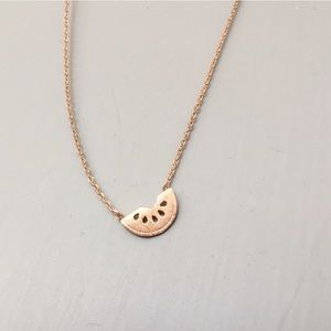Rose Gold Watermelon Necklace