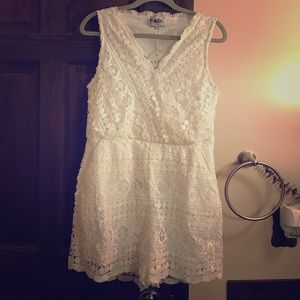 Sabo skirt white romper